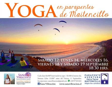 Yoga en parapentes de Maitencillo-b