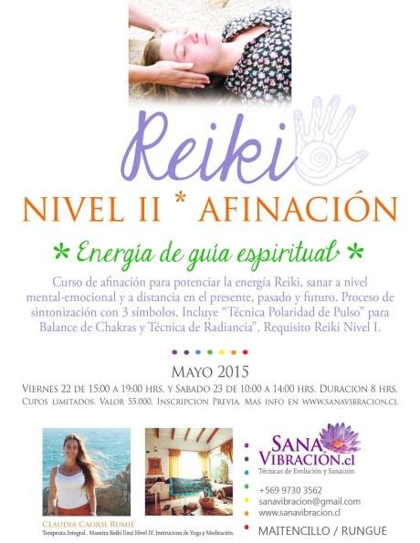 Afiche Reiki Nivel II 22 y 23 Mayo 2015