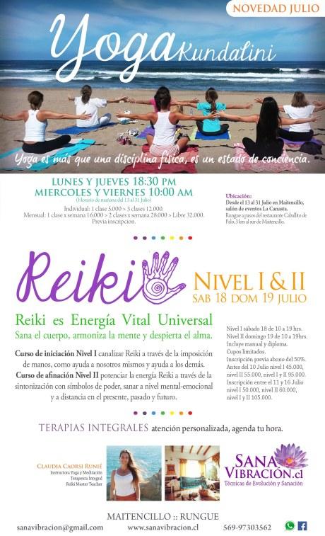 Yoga y Reiki Sana Vibracion Julio