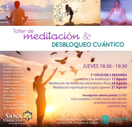 afiche meditacion agosto